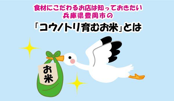 食材にこだわるお店は知っておきたい!!兵庫県豊岡市の「コウノトリ育むお米」とは